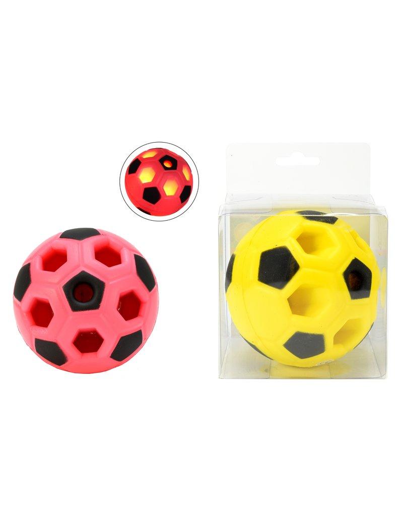 Stuiterbal Voetbal Ø10cm met licht 2 assorti kleur