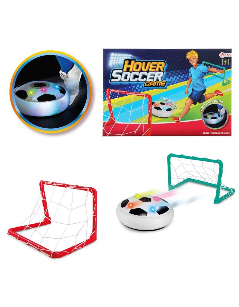 Spel 'Hover Voetbal' schijf met licht + 2 doelen
