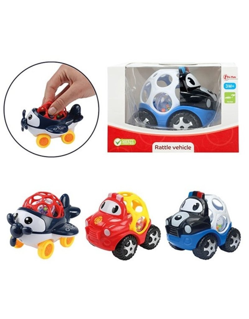 Baby Rammelaar Blij Voertuig 3 assorti model