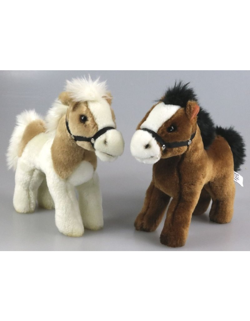 Pluche Paard 23cm. 2 assorti kleur