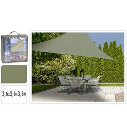 Schaduwdoek Driehoek 3,6x3,6x3,6meter groen