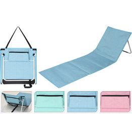 Strandmat met rugsteun 160x54cm 3 assorti kleur