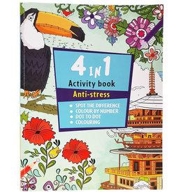 Activiteitenboek 4 in 1 56 pagina's 21x29,7cm.