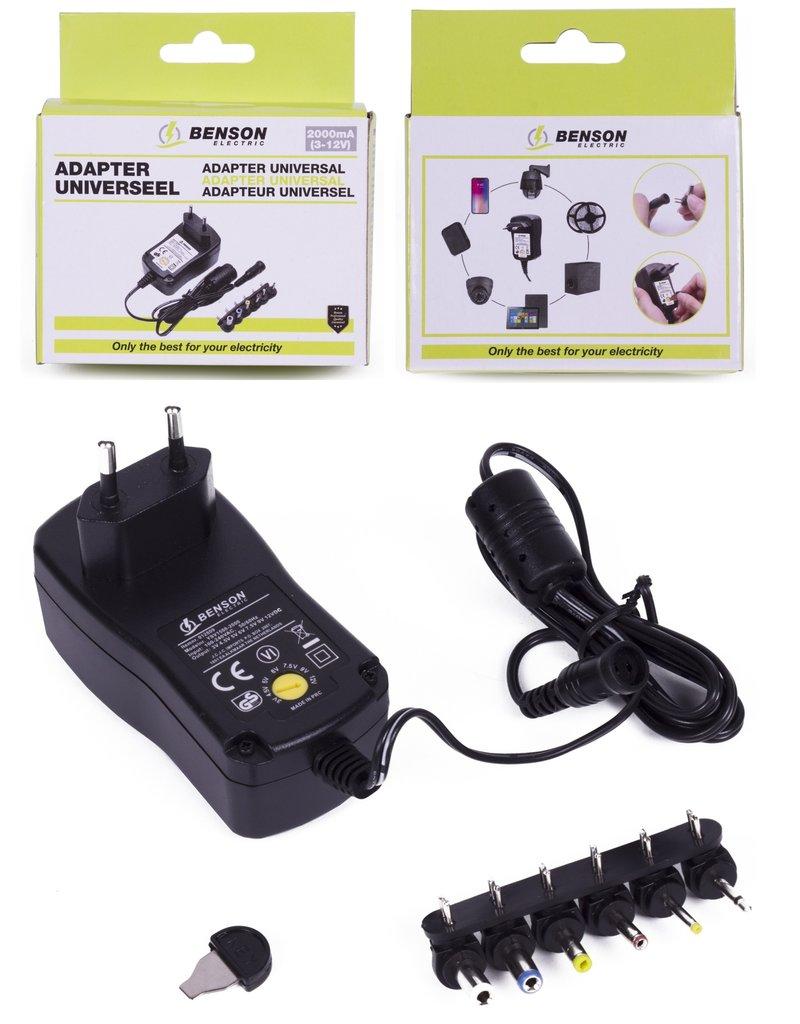 Adapter Universeel 2000mA 3V t/m 12V