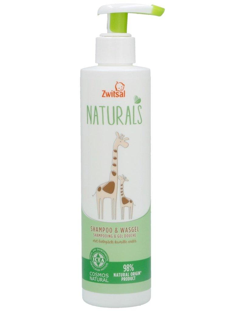 Zwitsal Naturals Shampoo & Wasgel 250ml Pump