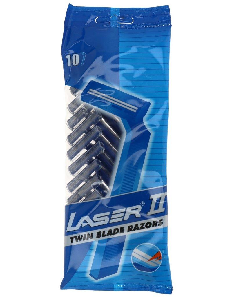 Laser II Twin Blades Wegwerp Scheermesjes 10 per zakje