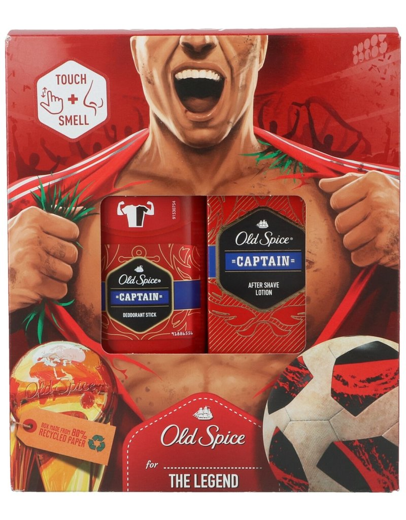 Old Spice Captain Giftset; Aftershave Lotion 100ml & Deo stick 50ml