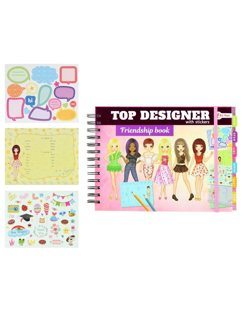 Top Designer Vriendenboek Meiden met stickers