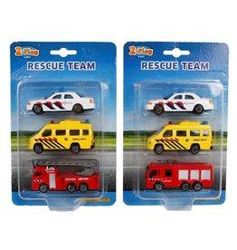 DieCast 112 voertuigen 8cm. set a 3 stuks 2 assorti model