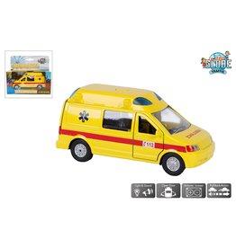 DieCast Ambulance 13cm. met licht en geluid
