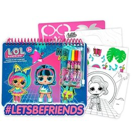 L.O.L. Kleurboek met viltstiften, sjabloon en stickers
