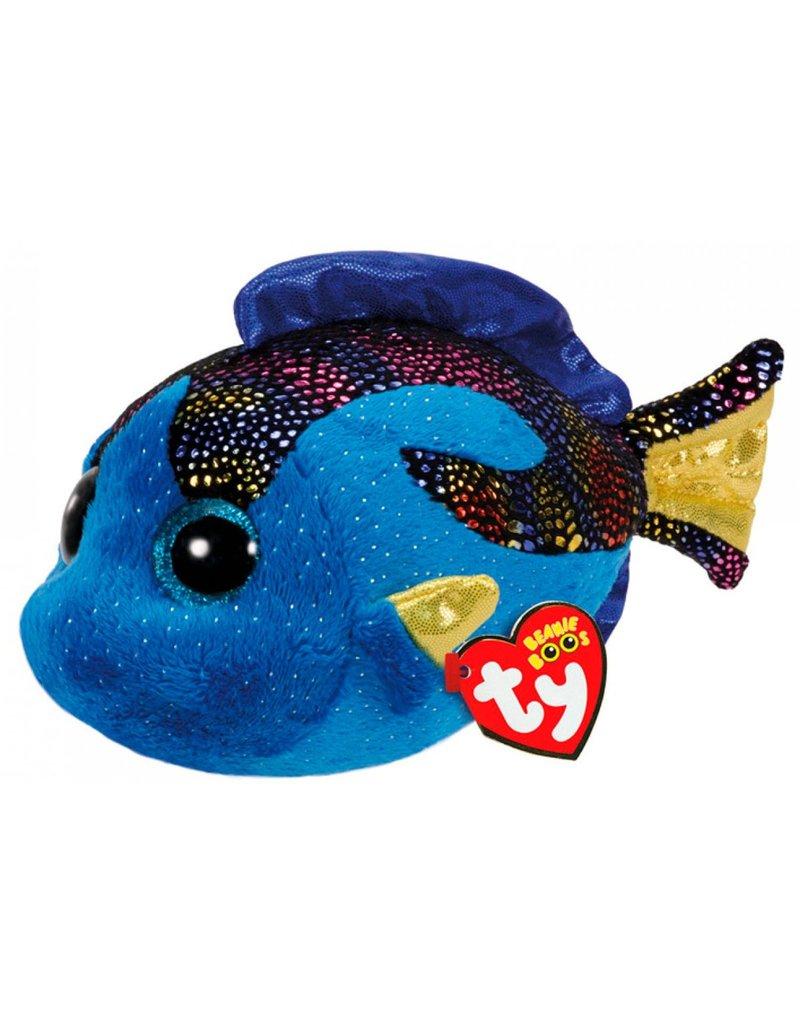 TY Pluche Vis Aqua met glitter ogen 15cm.