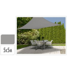 Schaduwdoek Vierkant 5x5mtr. Off White