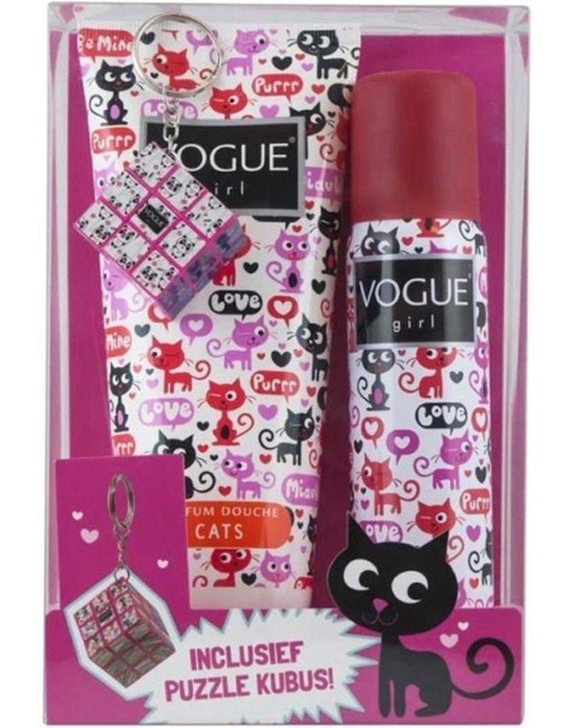 Vogue Girl Geschenkset; Deospray, Douchegel en Kubuspuzzel