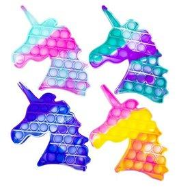 Magic Pop It Unicorn Tie Dye 14x18cm. assorti