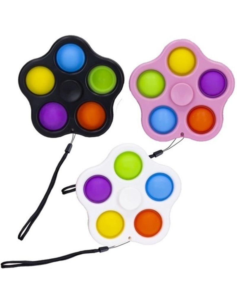 Magic Pop It Spinner met 5 Pops 7,5cm assorti