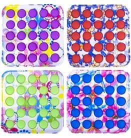 Magic Fidget Pop It Luxe Print 11,5x11,5cm. assorti