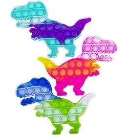 Magic Fidget Pop It Dino Tie Dye 13x19cm. assorti kleur