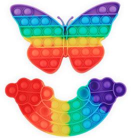 Magic Pop It Rainbow Assorti Regenboog en Vlinder 13x20cm.