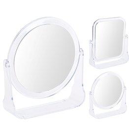 Spiegel 13x14cm met standaard 2 assorti vorm