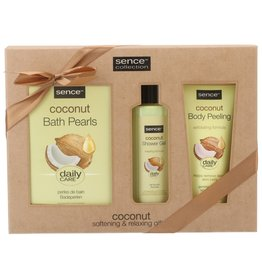 Sence Giftset Coconut; Douche 200ml+Pearls150gr+Scrub150ml