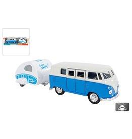 Welly VW T1 1963 met caravan 21cm. free wheel