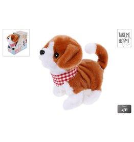 Loop Hond Pluche 17cm. met diverse functies