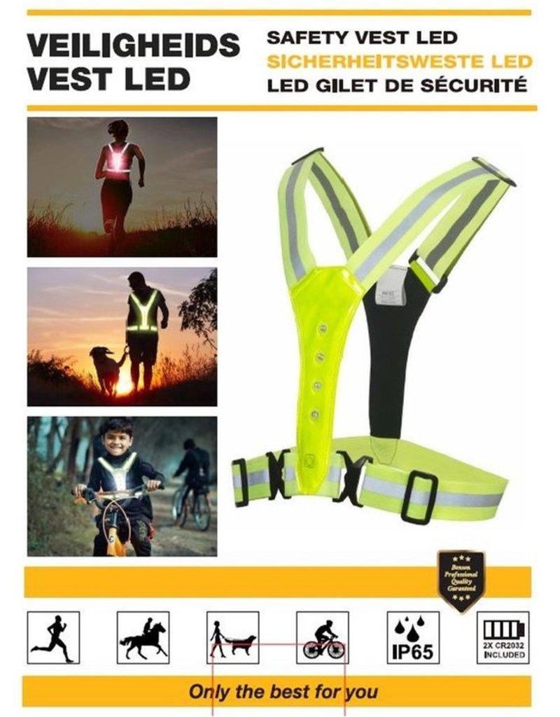LED Reflecterende Veiligheidsvest One Size