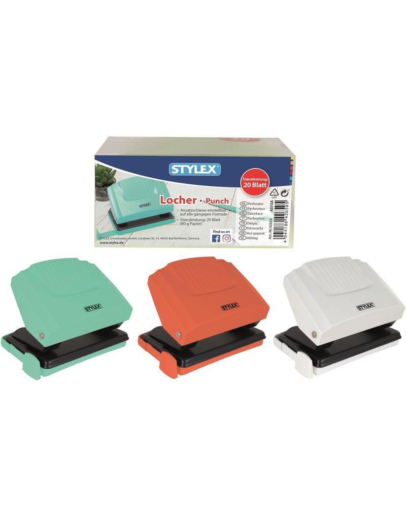 Perforator met aanleg 3 assorti kleur