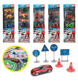Turbo Racers met speelmat en accessoires 6 assorti model