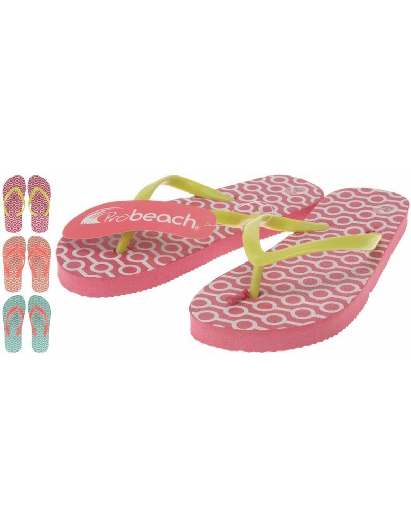 Meisjes slipper mt. 28-35 3 ass. design afn. per doos (a36)