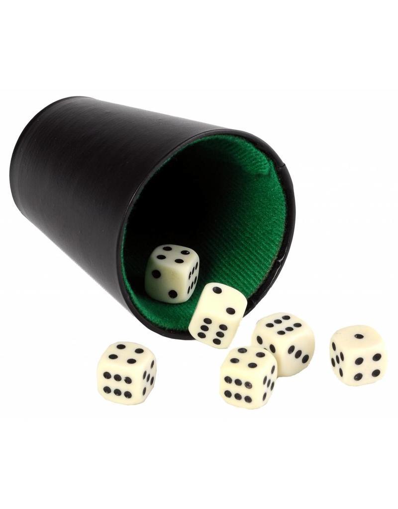 Pokerbeker 9 cm (excl. dobbelstenen)