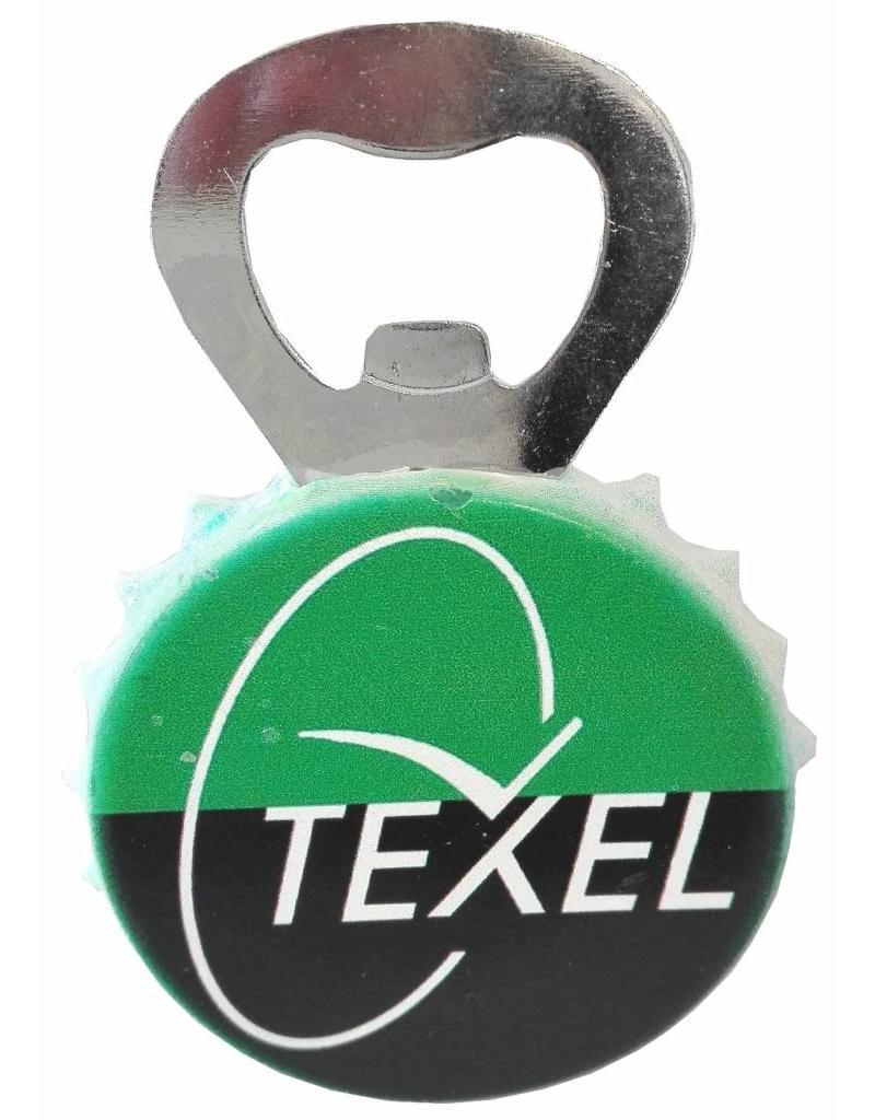 Texel Vlag Opener met magneet 9,5x5cm.