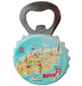 Texel Kaart Opener met magneet 9,5x5cm.