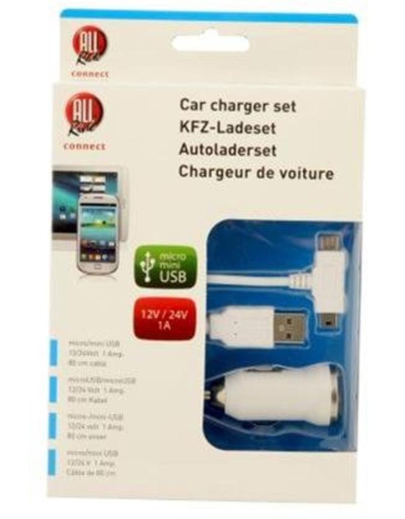 Autoladerset micro/mini 12/24V voor Samsung