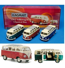 DieCast VW Classical Bus 1:24 3 ass. kleur per 6 in display