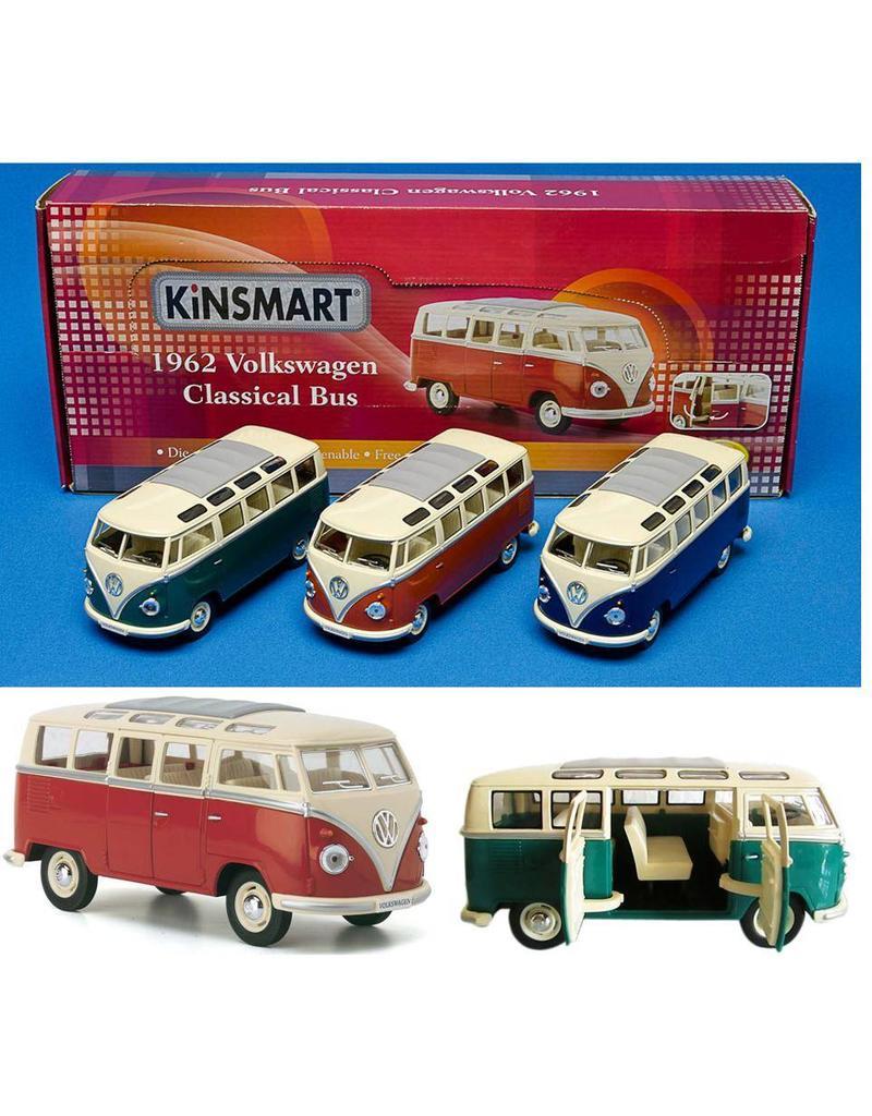 DieCast VW Classical Bus 1:24 3 assortie kleur