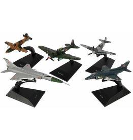 DieCast Aeroplane 5 ass. model op blisterkaart à 13,5x7x5cm.