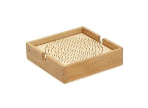 Rolf Kralenplank hout rond met kist