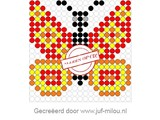 Kralenplank Vlinder 2