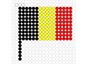 Kralenplank Vlag België