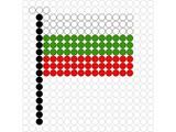 Kralenplank Vlag Bulgarije