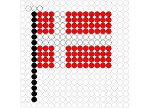 Kralenplank Vlag Denemarken