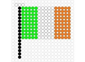 Kralenplank Vlag Ierland
