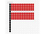 Kralenplank Vlag Letland
