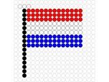 Kralenplank Vlag Luxemburg