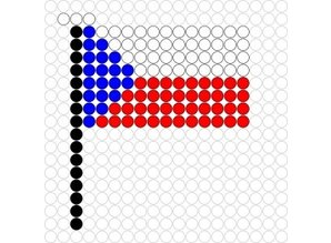 Kralenplank Vlag Tsjechië