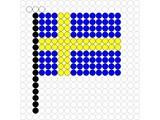 Kralenplank Vlag Zweden