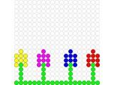 Kralenplank Vier bloemetjes