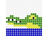 Kralenplank Krokodil
